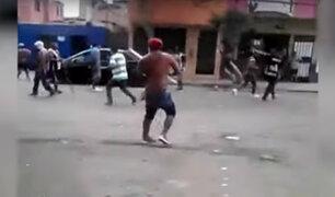 Delincuentes disfrazados de hinchas desataron pánico entre vecinos de Chorrillos