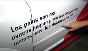 Dueño de funeraria le regaló carroza pintada con la bicolor  a la familia de Peredo