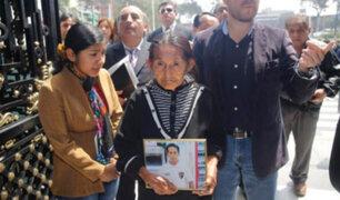 Emerson Fasabi: familiares piden a la Fiscalía exhumar su cadáver