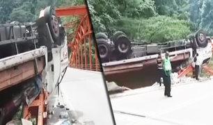 Chanchamayo: un herido deja accidente en la Carretera Central en la ruta a Tarma