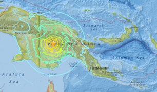 Sismo de magnitud 7,5 sacudió Papúa Nueva Guinea