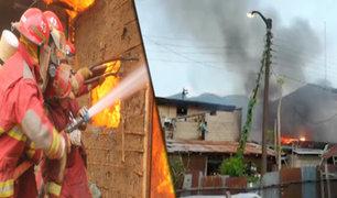 Tingo María: incendio arrasa con cuatro viviendas