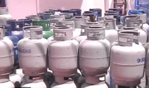 Precio de balón de gas llega hasta 45.5 soles