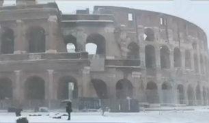 Italia: Roma se cubre de blanco después de seis años