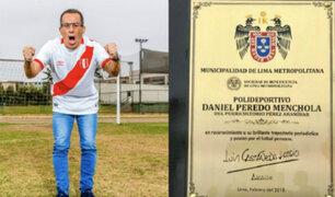 Daniel Peredo: Polideportivo de Magdalena llevará el nombre del periodista