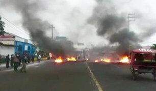 Chiclayo: pobladores protestan para exigir se ejecute proyecto de saneamiento