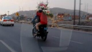 Motociclista cometió múltiples infracciones en la Panamericana Norte