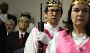 EEUU: iglesia bendice a fieles que portan fusiles