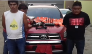 Capturan a dos sujetos que habrían robado diez camionetas