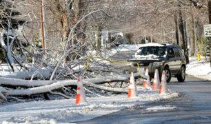 """EEUU: """"Ciclón bomba"""" golpea la costa este con intensa lluvia y nieve"""