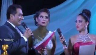 Candidata a Miss Vendimia lanzó un improperio durante certámen