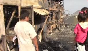 Áncash:: bus interprovincial se incendia en Huarmey
