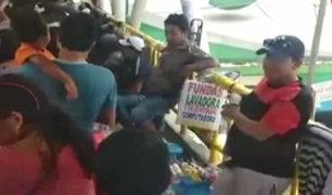 Puente Piedra: comerciantes ambulantes invaden puente peatonal