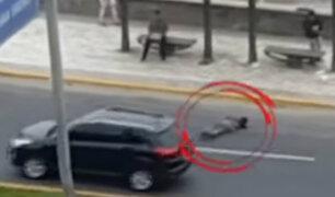 Chorrillos: ambulante sufre accidente luego que serenos le arrebatan mercadería