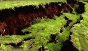 ¿Por qué la tierra se abrió en Junín y Cusco?, geólogo explica los motivos