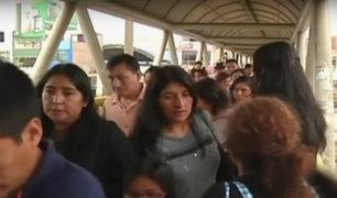 Puente Piedra: peatones continúan transitando por puente a punto de colapsar