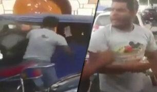 Chiclayo: hombre golpea a mototaxista de la tercera edad en plena calle