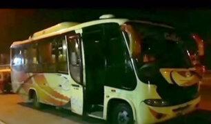 Trujillo: delicuescentes desvalijan a 36 pasajeros de bus interprovincial