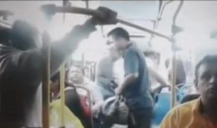 Trujillo: Policía queda herido tras asalto a mano armada en bus