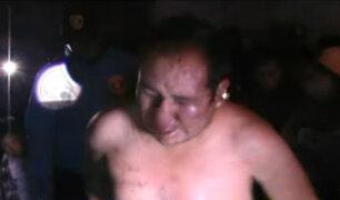 Juliaca: ladrón es salvado de ser linchado por pasajeros de combi