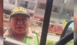 Detienen a ambulancia que circulaba por vía de Metropolitano para corroborar que llevaba paciente
