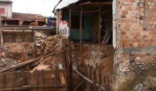Iquitos: viviendas colapsan por filtración de agua y paralización de obra