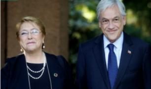 Michelle Bachelet entrega a Sebastián Piñera el poder de Chile