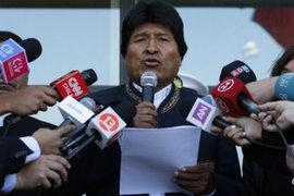 Presidente Evo Morales pide perdón a chilenos por mensajes ofensivos