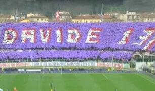 Emotivo homenaje rinden los hinchas a Davide Astori