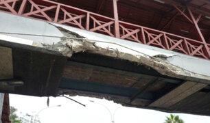 Emape asegura que puente dañado en Barranco se puede utilizar