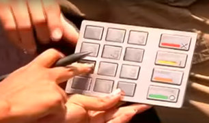 Surco: hallan clonador de tarjetas en cajero automático