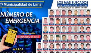 MML difunde rostros de los violadores más buscados en colegios