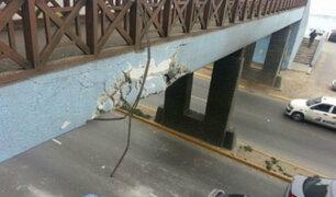 Identifican a propietario de camión que dañó puente peatonal en la Costa Verde