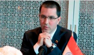 India: canciller venezolano asegura que Maduro sí llegará al Perú