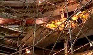 Cercado de Lima: continúan trabajos de restauración de histórico Teatro Segura