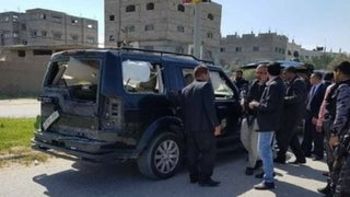 Atacan convoy que trasladaba al primer ministro de Palestina