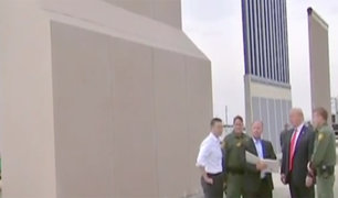 EEUU: Donald Trump inspecciona prototipos del muro en frontera con México