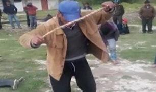 Cajamarca: ladrones de ganado son castigados bailando huayno