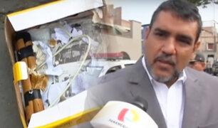 Alcalde de SJM se pronuncia por explosivos dejados en su casa