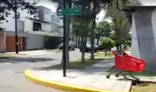 La Molina: abandonan carritos de supermercado en plena calle