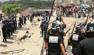 Villa el Salvador: cientos de familias son desalojadas de asentamiento humano