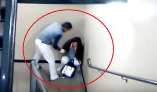 EEUU: captan a beisbolista dando brutal golpiza a su novia