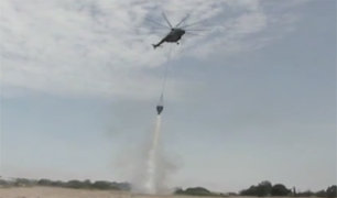 Ejército del Perú adquiere equipo aéreo para apagar incendios