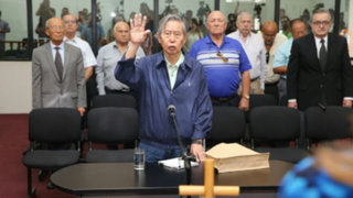 Expresidente  Alberto Fujimori declara en juicio por el caso Gorriti