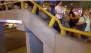 San Borja: joven cae de puente peatonal cuando escapaba de fiscalizador