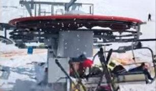 Georgia: falla de telesilla en una estación de esquí deja varios heridos