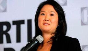 """Keiko afirma que la salida del presidente Kuczynski """"hará renacer"""" al Perú como nación"""