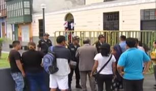 Calles y vías cerca a Palacio de Gobierno fueron cerradas