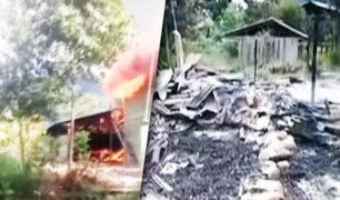 Tocache: incendio consume vivienda de dos pisos