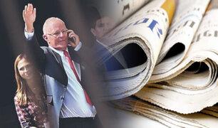 Sepa cómo informaron los principales diarios del país la renuncia de PPK